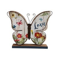 """WOOD BUTTERFLY TABLE TOP-LOVE,14"""""""