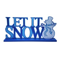 WOOD LETTER SIGN TABLE TOP 'LET IT SNOW'