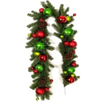 CHRISTMAS BALL GARLAND,72""