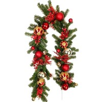 "CHRISTMAS BALL GARLAND,72"" GOLD"