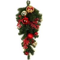"CHRISTMAS BALL TEADROP,24"" GOLD"