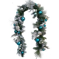 "CHRISTMAS BALL GARLAND,72"" BLUE"
