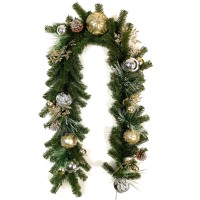 "CHRISTMAS BALL GARLAND,72"" YELLOW"