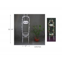 "WELCOME PLANT STAND, 52.25""H"