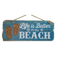 """WALL DECOR. LIFE IS BETTER AT THE BEACH, 23.5"""""""