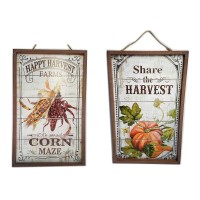 WOOD FRAME SIGN, 2 ASST