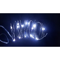 ESE Fairy String Lights Battery Operated timer30 LED 10FT Wire Firefly Lights(cool white)