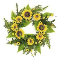 ESE SUNFLOWER & BLOSSOM WREATH, 22""