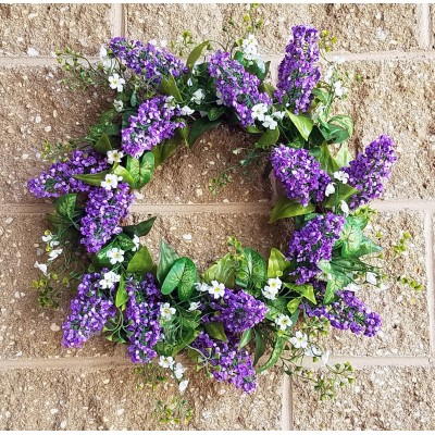 "20"" Lavender Shell Wreath Purple"